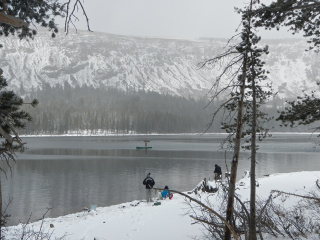 Lake Mary, Mammoth Lakes, California, opening day, April 2015.