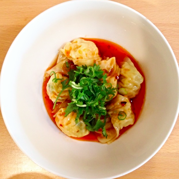 photo of spicy shrimp wontons