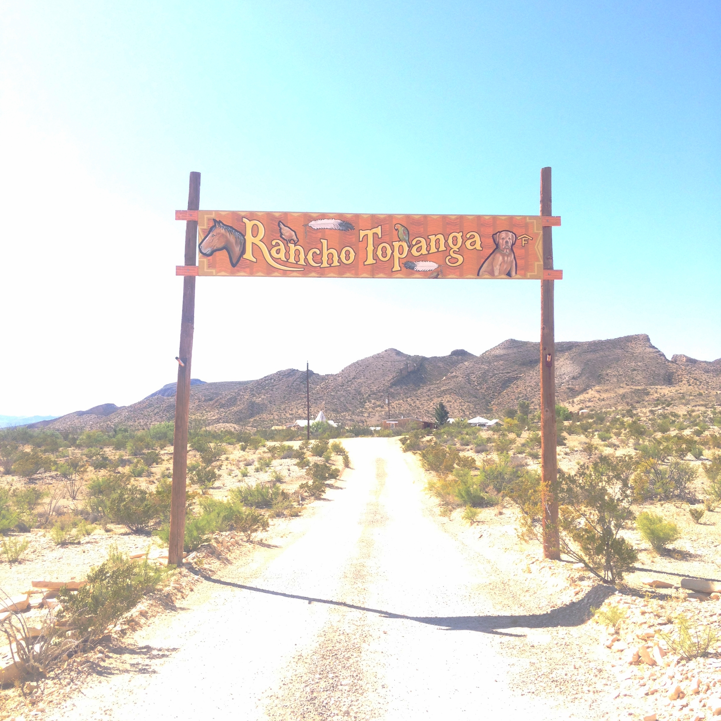 Rancho Topanga, clean showers and a perfect location between the state park and Terlingua