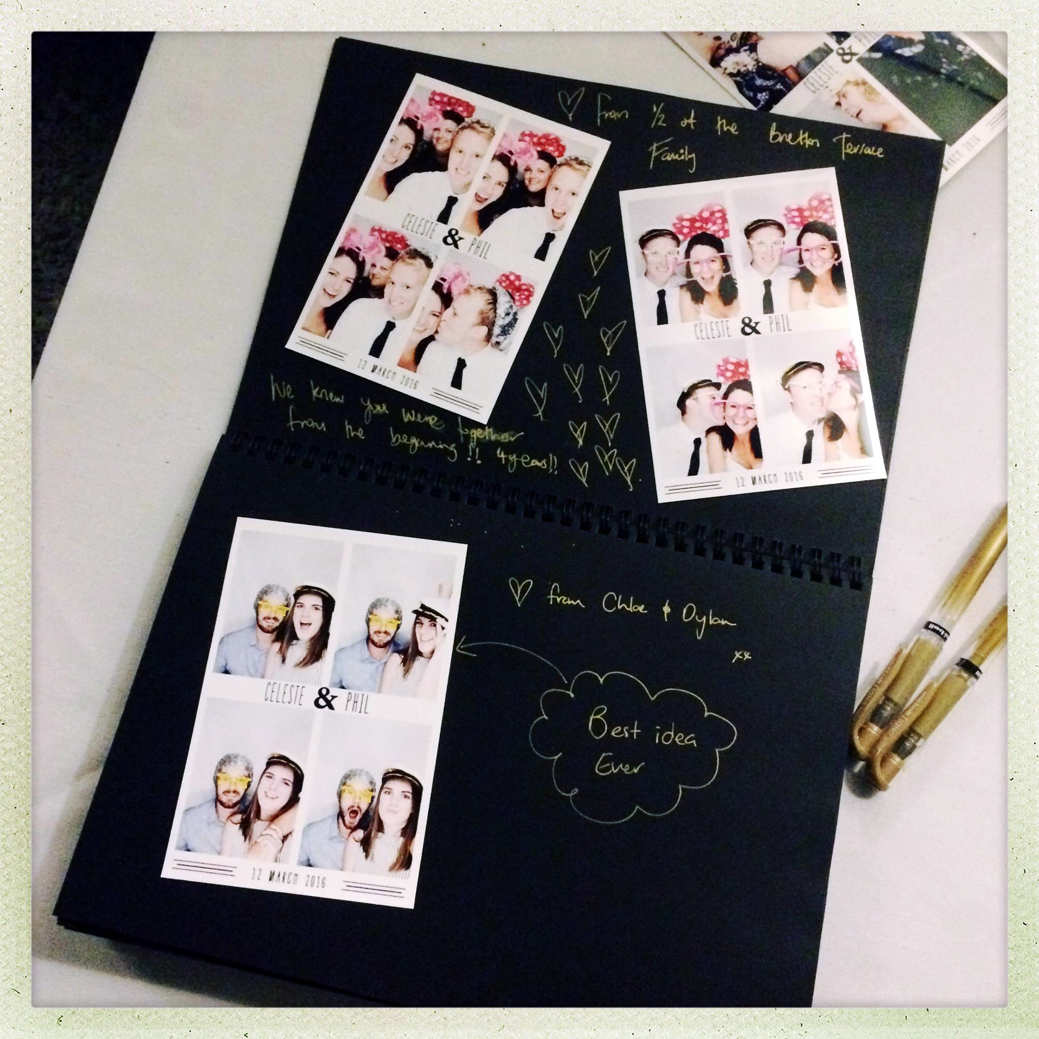 CREATE an instant photo booth album | PHOTO CREDIT:  Photoautomatica (  www.photoautomatica.co.nz  )