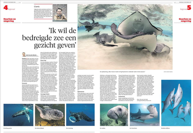 Interview in Haarlem's Dagblad, October 2015