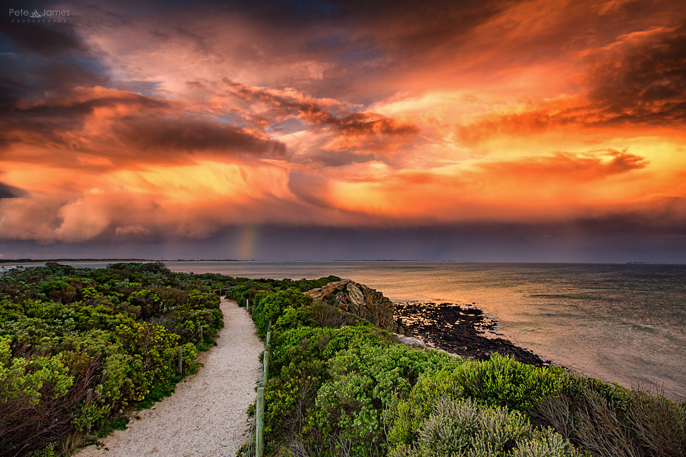 Reverse sunset- Barwon Heads bluff