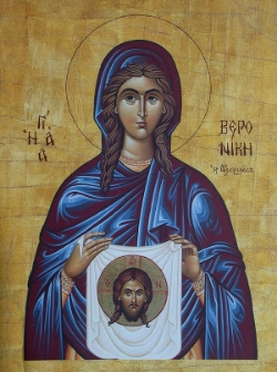 St. Veronica (Bernice), a woman healed by Jesus  Please click on the icon to view bulletin