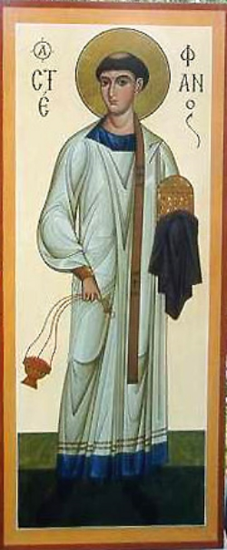 Translation of the Relics of the Protomartyr and Archdeacon Stephen from Jerusalem to Constantinople  Please click on icon to view bulletin