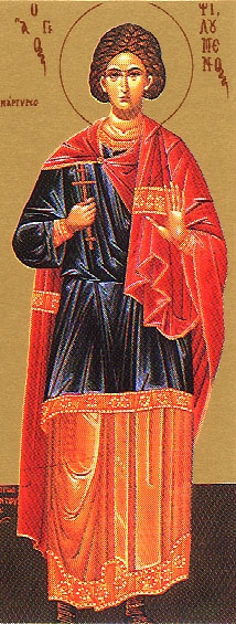 Martyr Philomenus of Ancyra  Please click on Icon to view bulletin