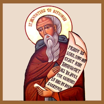 Holy Father Auxentius of the Mountain  Please click on Icon to view bulletin