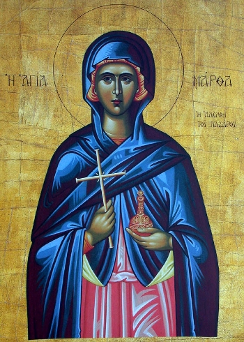 Righteous Martha the sister of Lazarus
