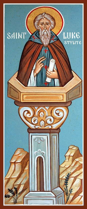Venerable Luke the New Stylite  Please click on Icon to view the bulletin