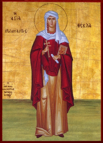St Thecla the Protomartyr and Equal to the Apostles  Please click on Icon to view bulletin