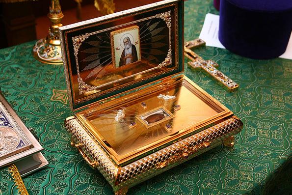 Relics of St. Seraphim of Sarov, Monastery of Diveyevo, Russia