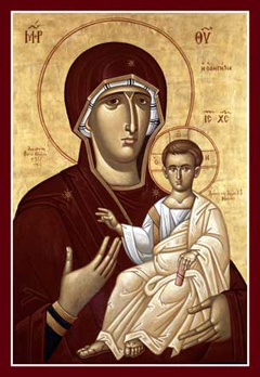 """""""Directress"""" Icon of the Mother of God"""