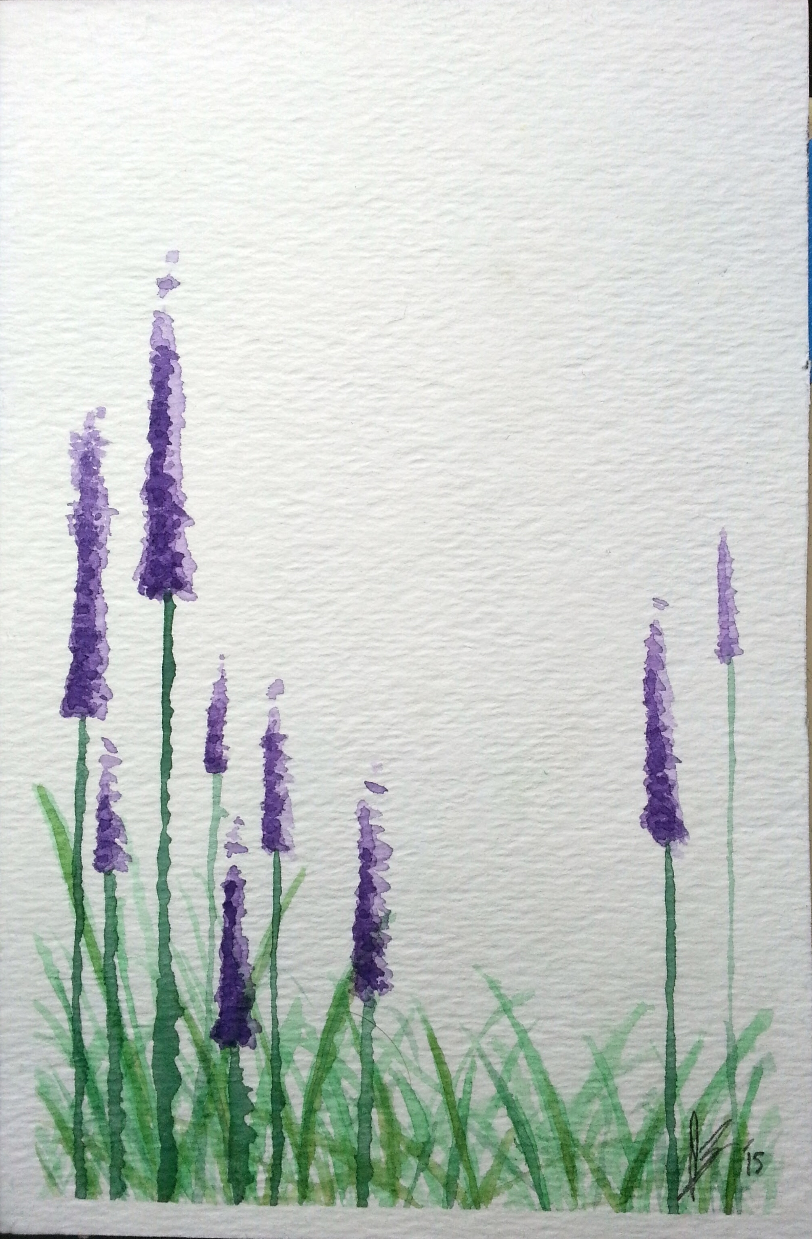 May, 2015  Purple flowers, shamelessly copied from something I saw on Pinterest.