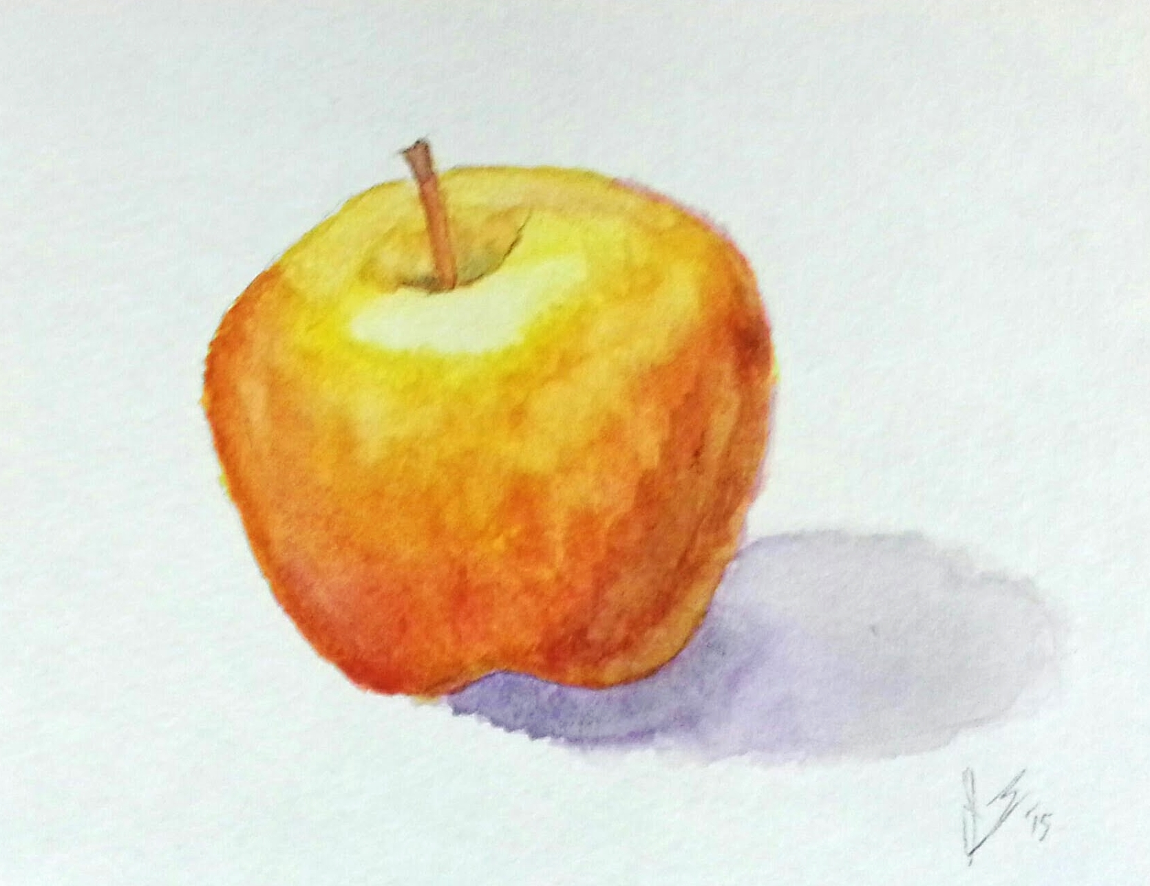 January, 2015  Still Life of an Apple and Bowser from Super Mario World