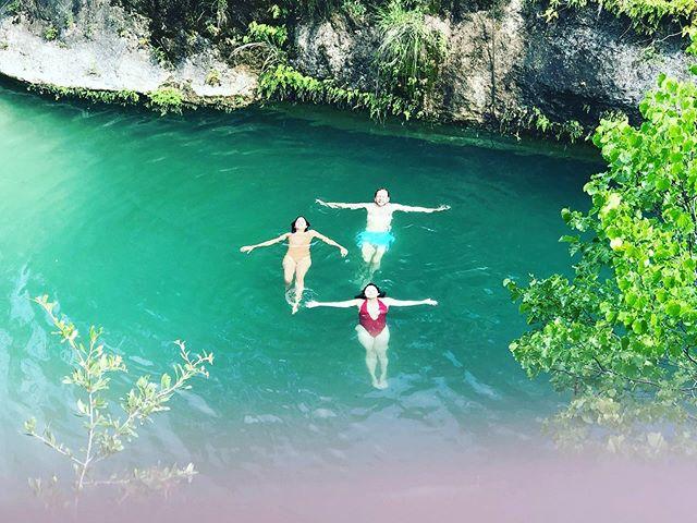 Dream days with @cosmofujiyama @smita_satiani swimming in texas...feels like Costa Rica