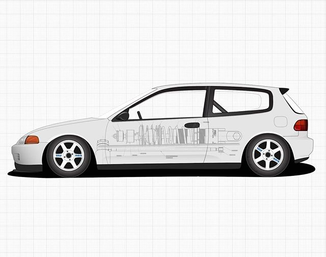 Progress on my buddies old race car. Created with adobe illustrator.