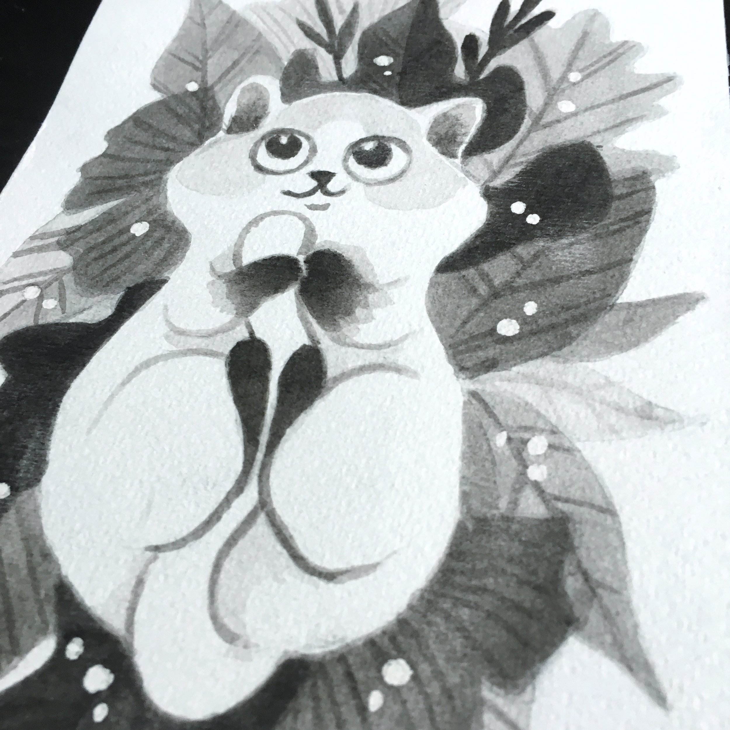 Whimsical Animal illustration in Black and white - Learn to create with just one colour