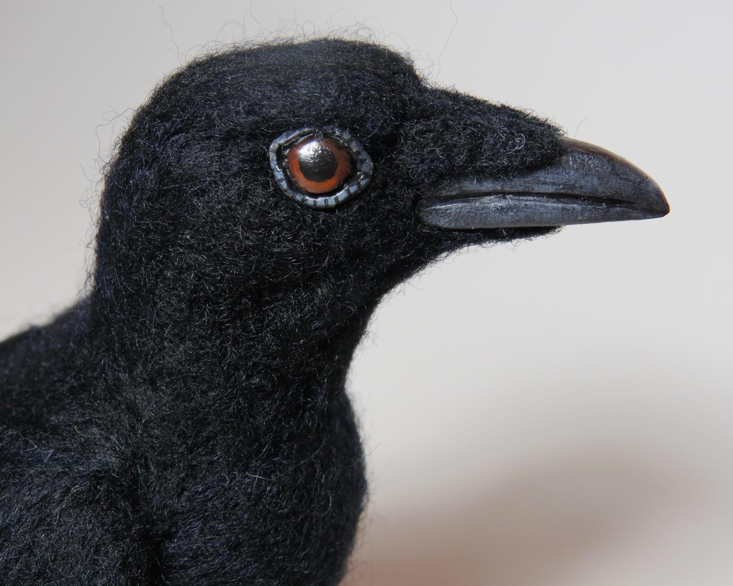 Needlefelted crow