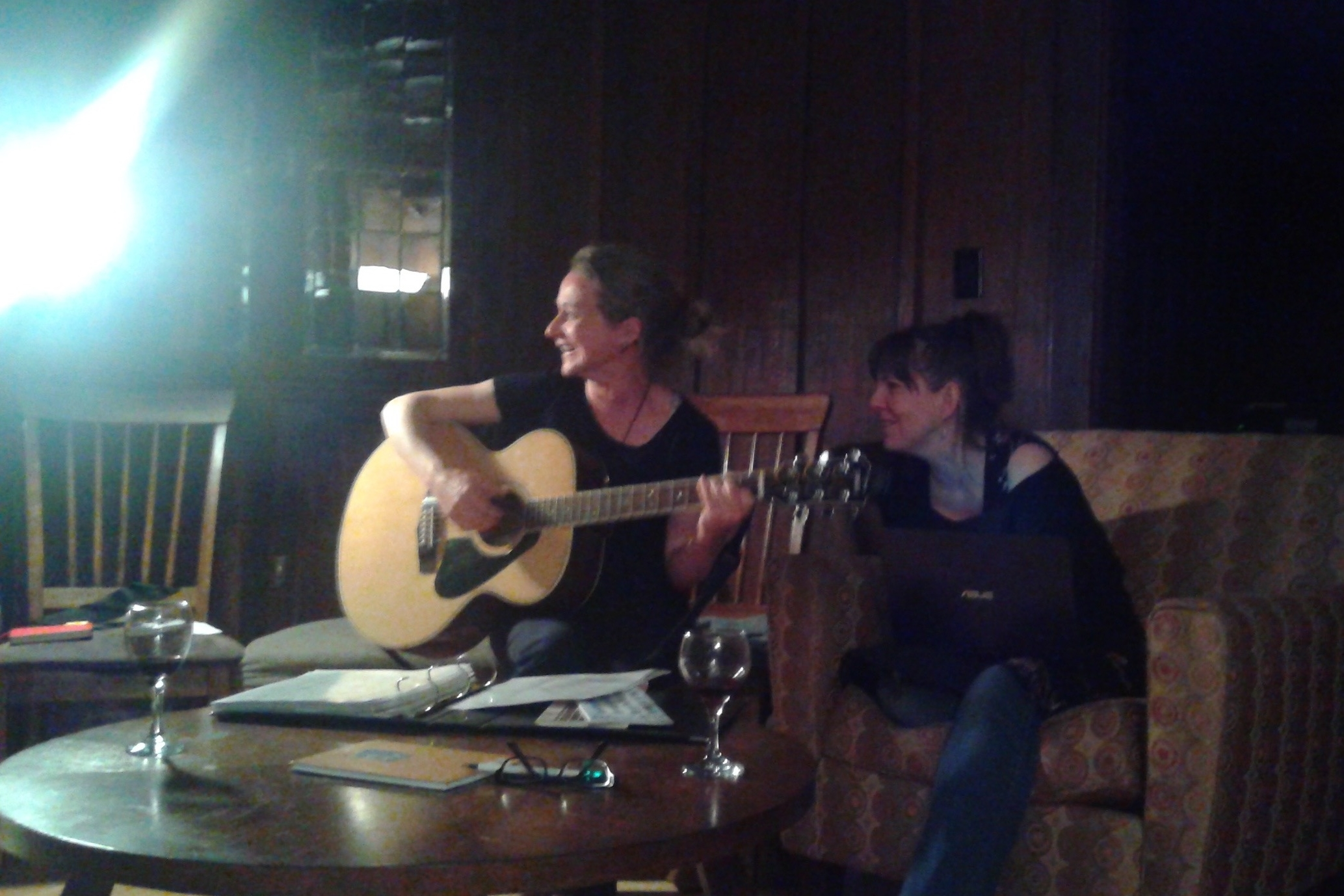 Monica Kidd and Sandra MacIntyre sang to us.