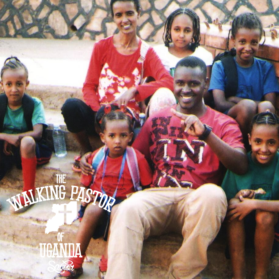 Kusasira with an Ethiopian family of Jewish faith