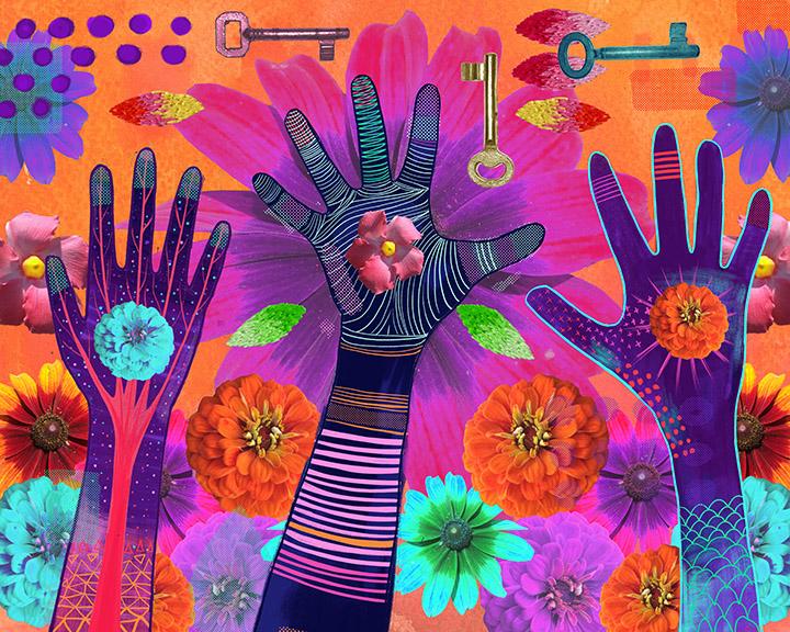 Hands Digital Collage