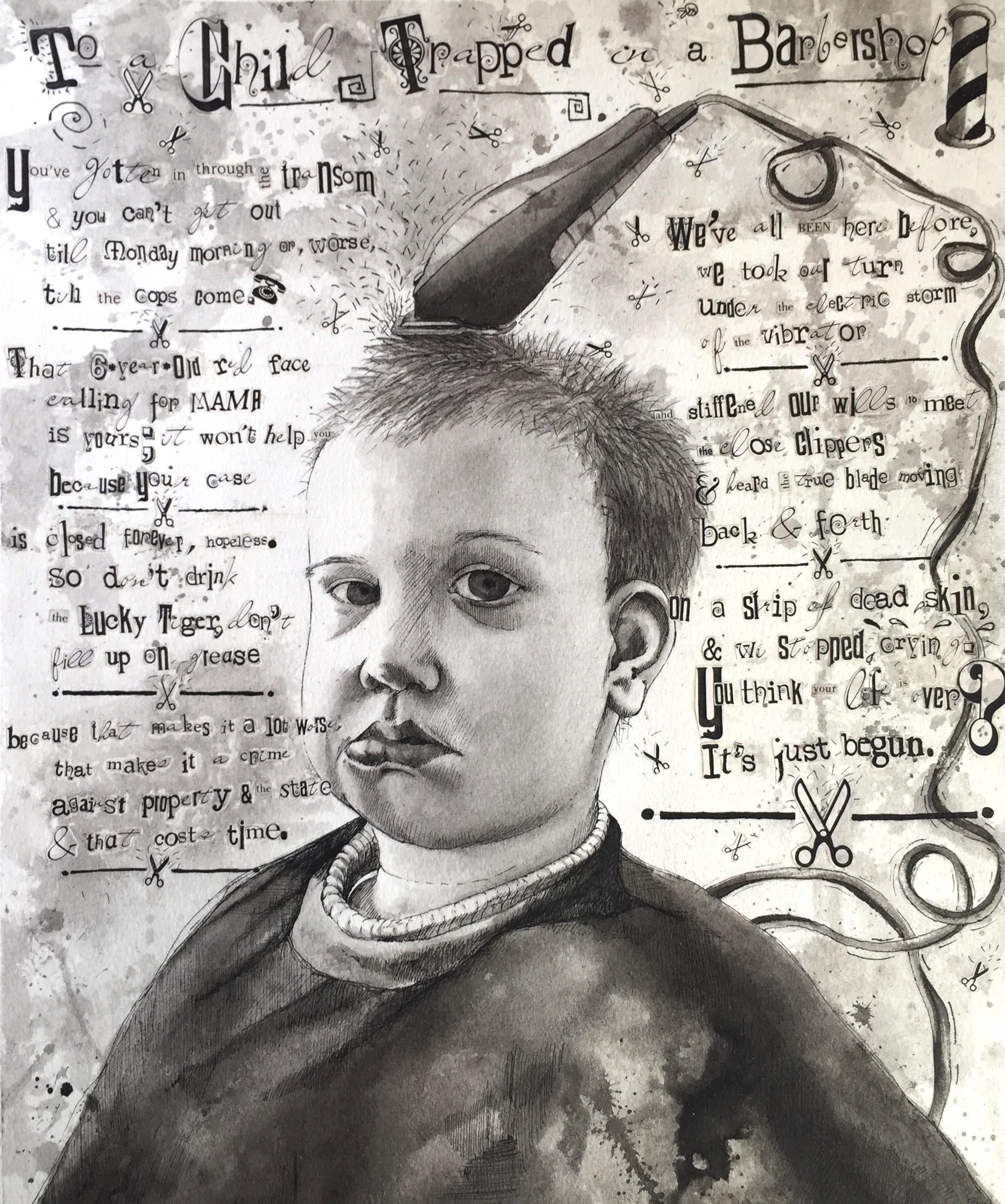Pen/Ink Wash, Collage