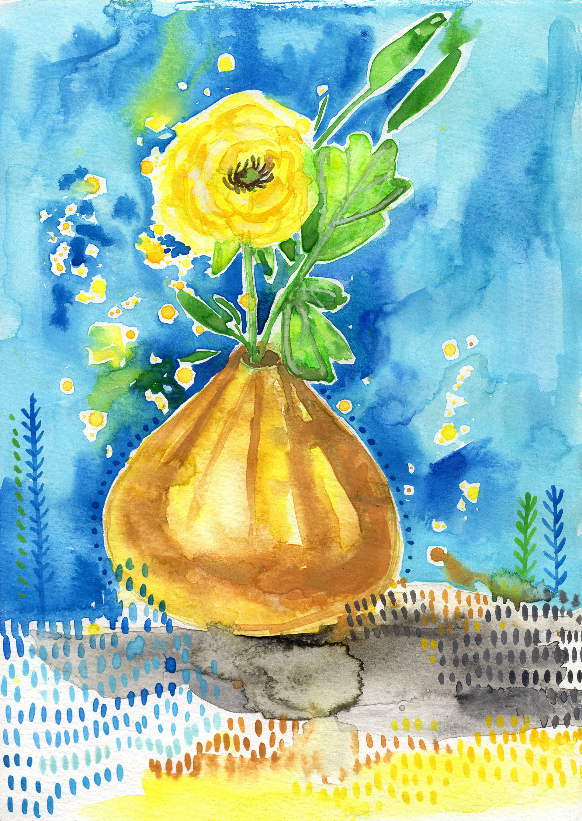 YellowRanunculus Watercolor.jpg