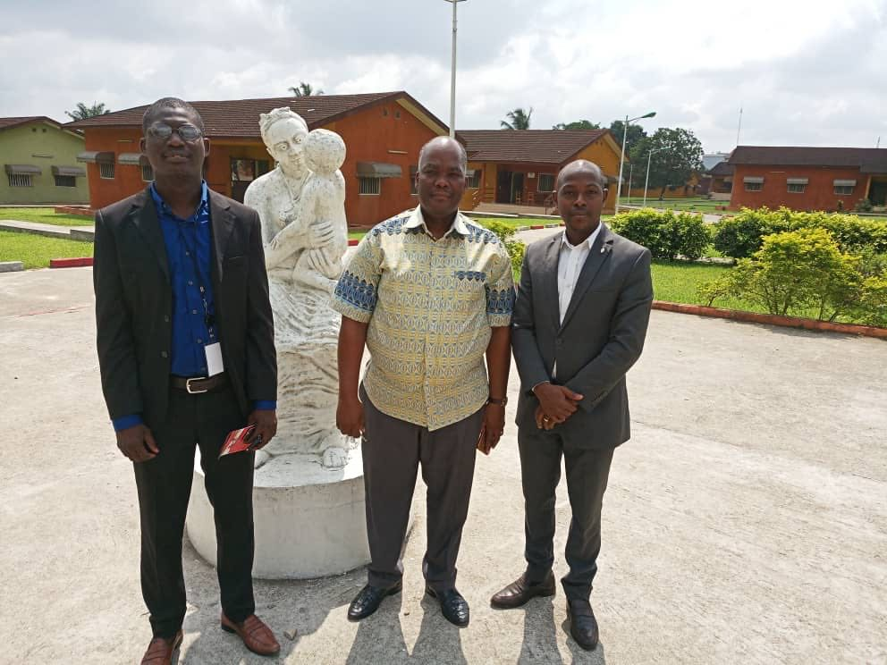 Pictured above from left to right is Ladji Koné , the Director of center, and Mr. Kouadio of NGO WELL