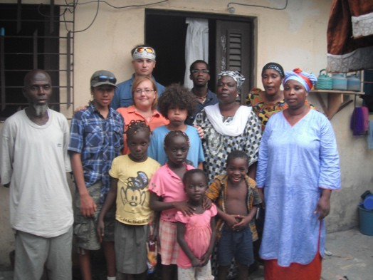 Alicia and the boys' first visit to Cote d'Ivoire and the Koné Compound, 2011
