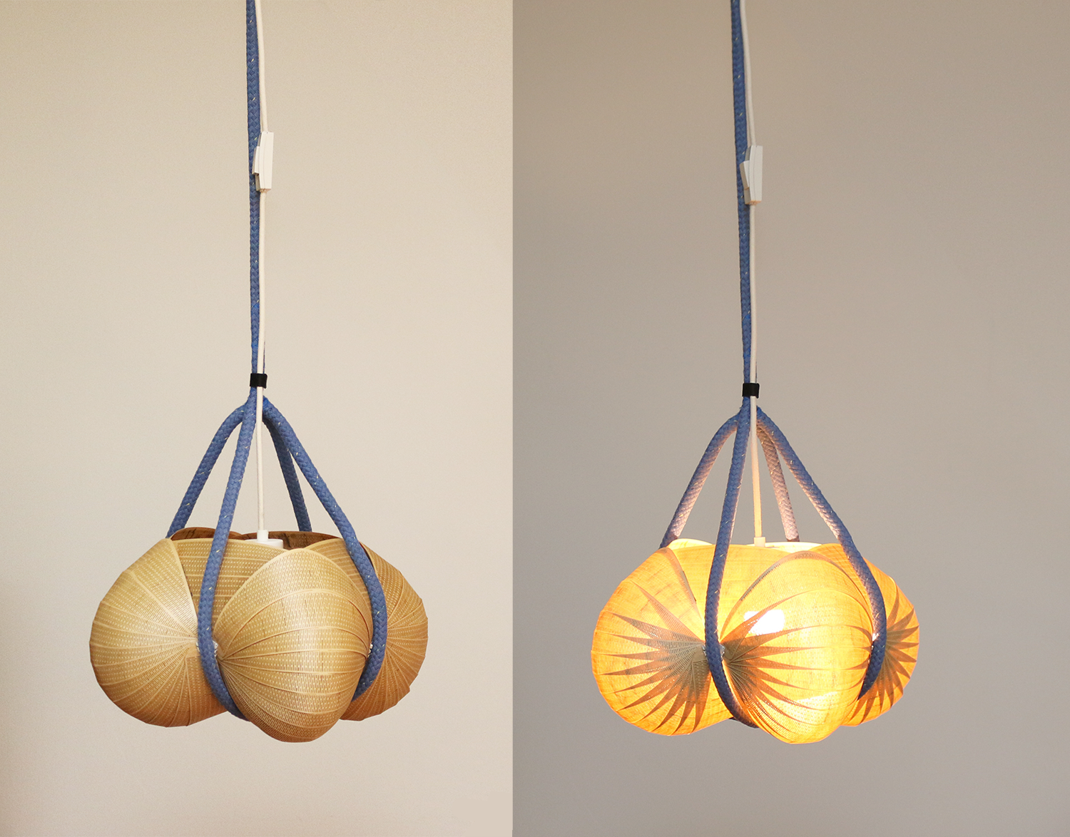 Pallokas with and without light.