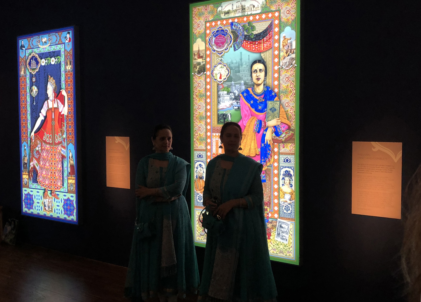 "Amrit and Rabindra 'The Singh Twins' present their ""The Slaves of Fashion' exhibition, W-ton Art Gallery."