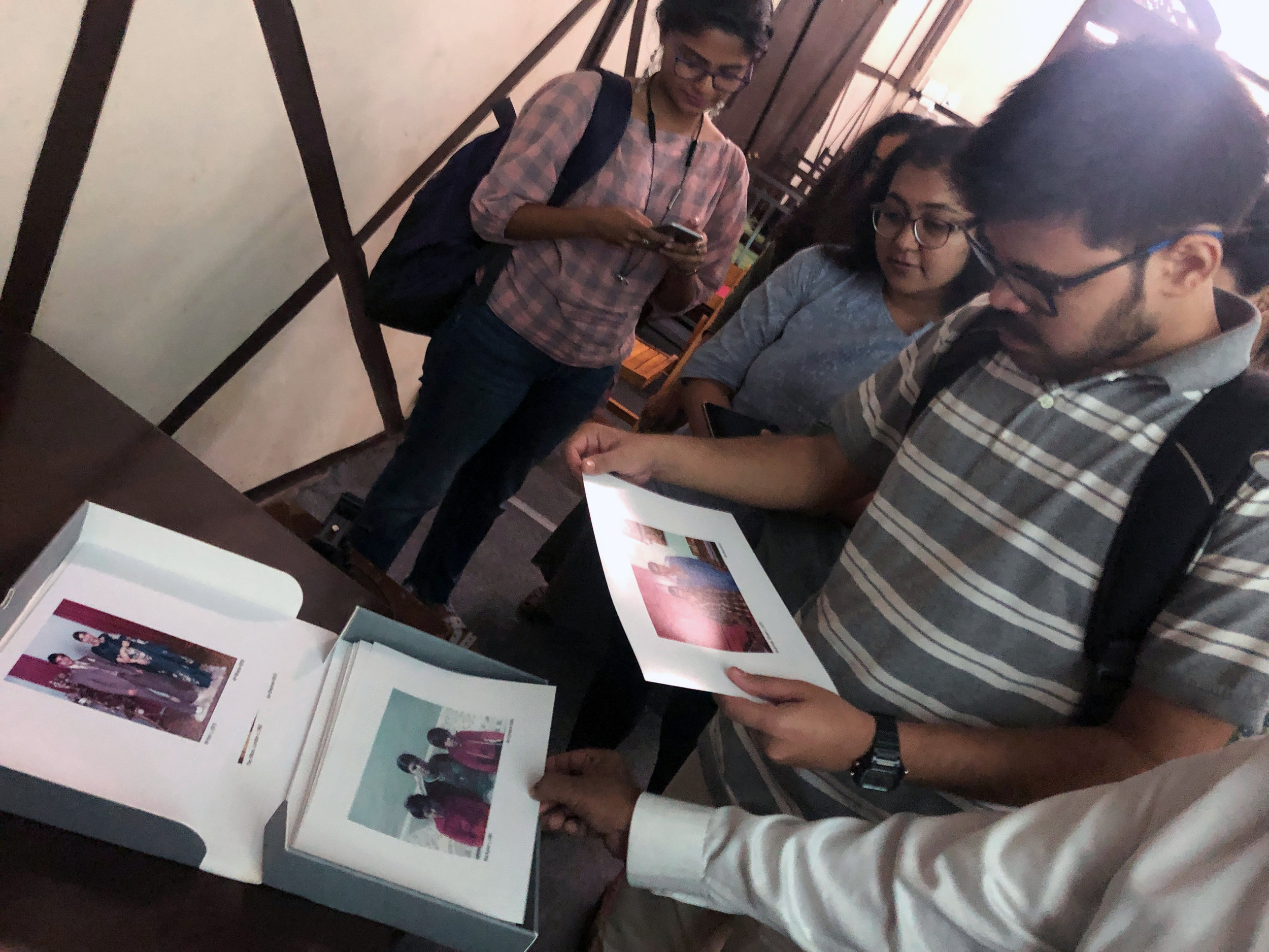 MUMBAI -  Great to have such an engaging crowd stop over to receive hospitality ask questions and browse the physical collection of images from the Apna Heritage Archive.