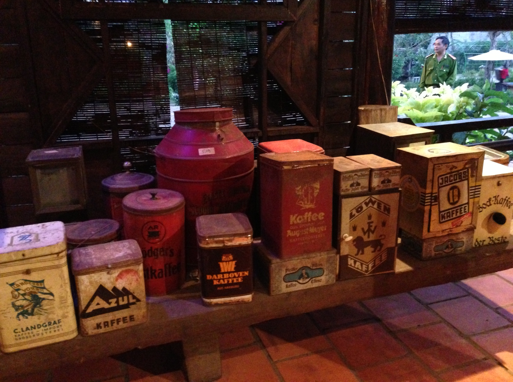 """Containers from Coffee's """"First Wave."""" The collection was impressive and extensive."""