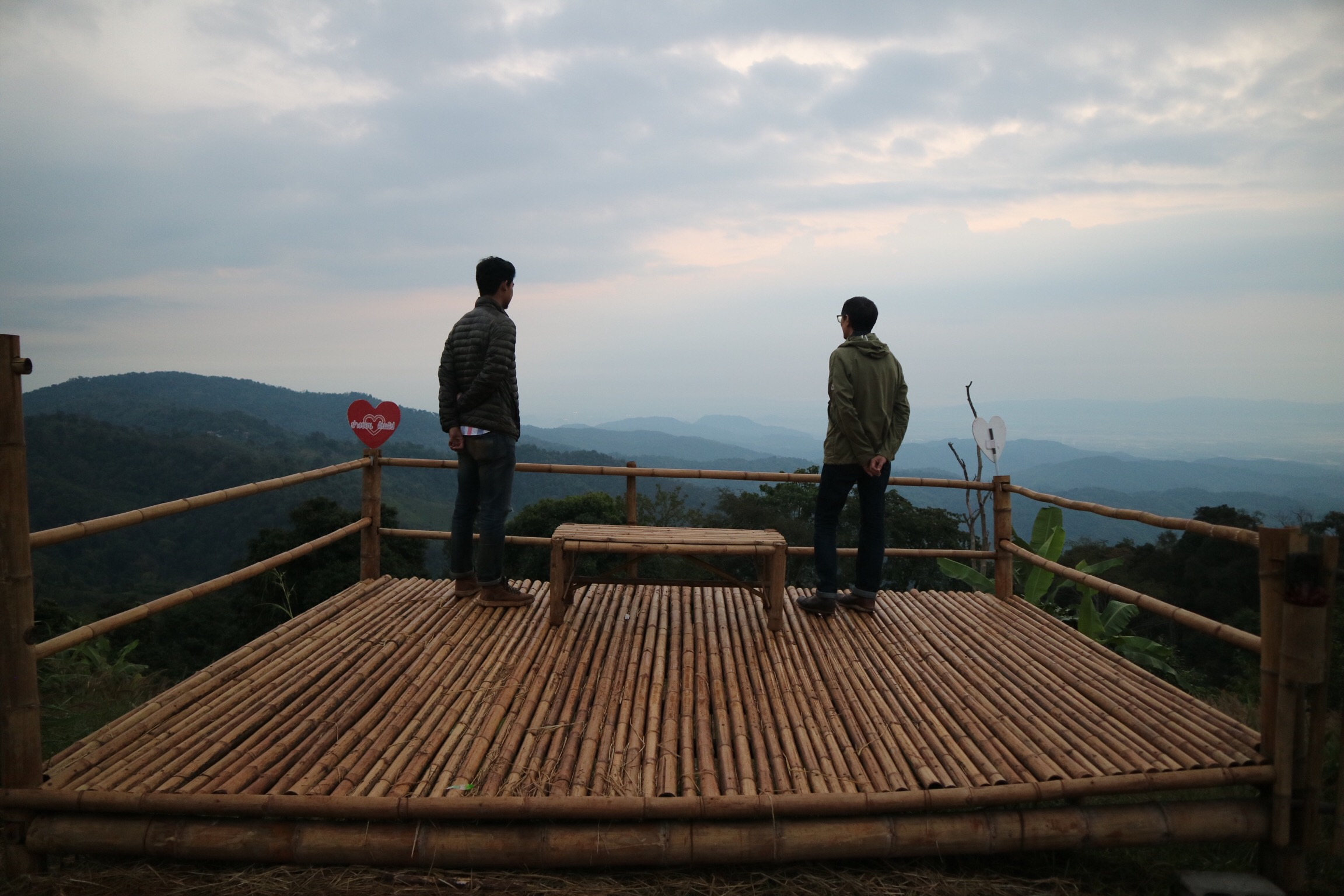 Sunrise on a cloudy morning overlooking the foothills leading to Chiang Rai - Fuadi and I contemplate the future of sustainable specialty coffee.