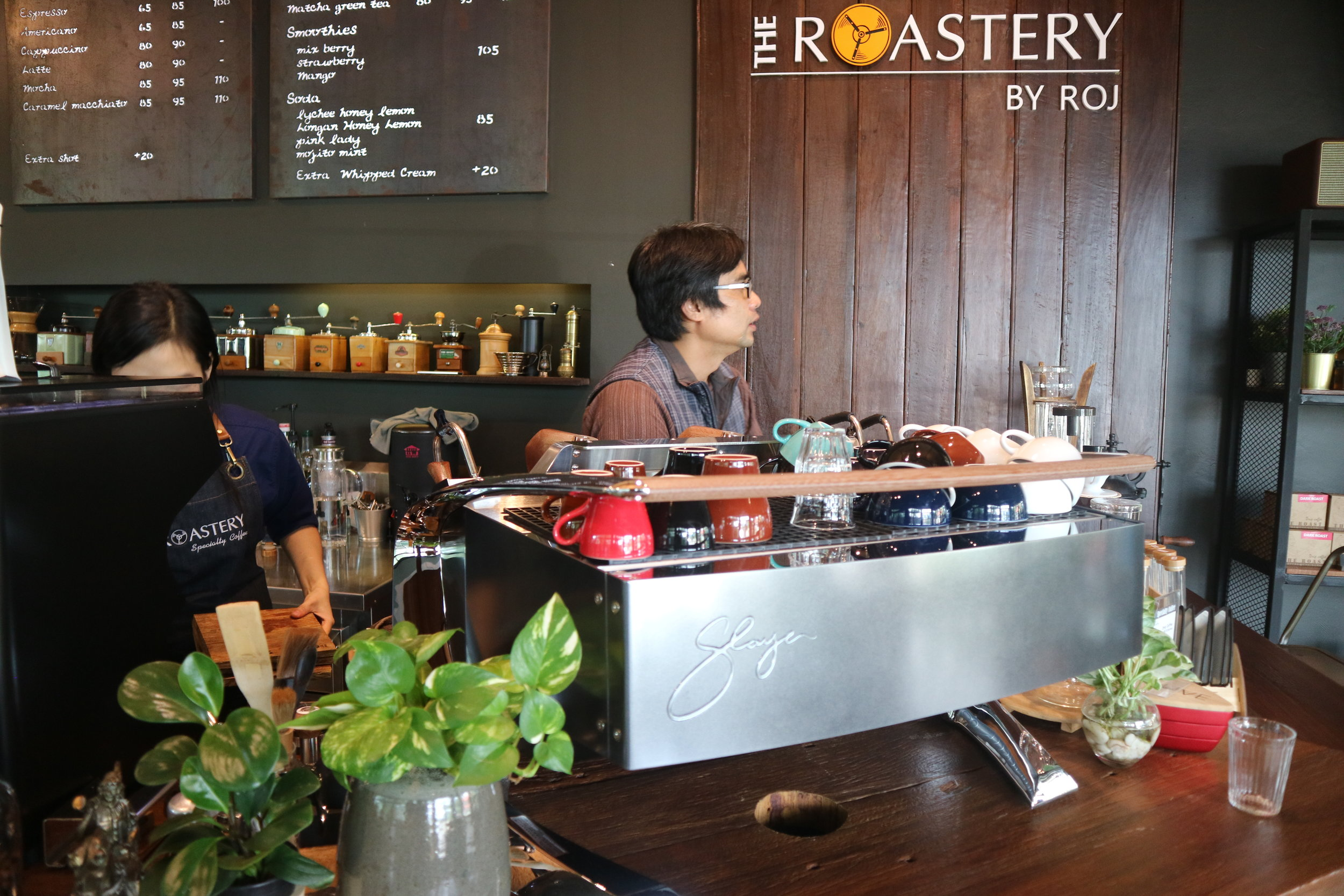 "Saroj ""Roj"" Inthep, founder of The Roastery, and Thai Specialty Coffee pioneer, is most at home behind the bar and behind the scenes."