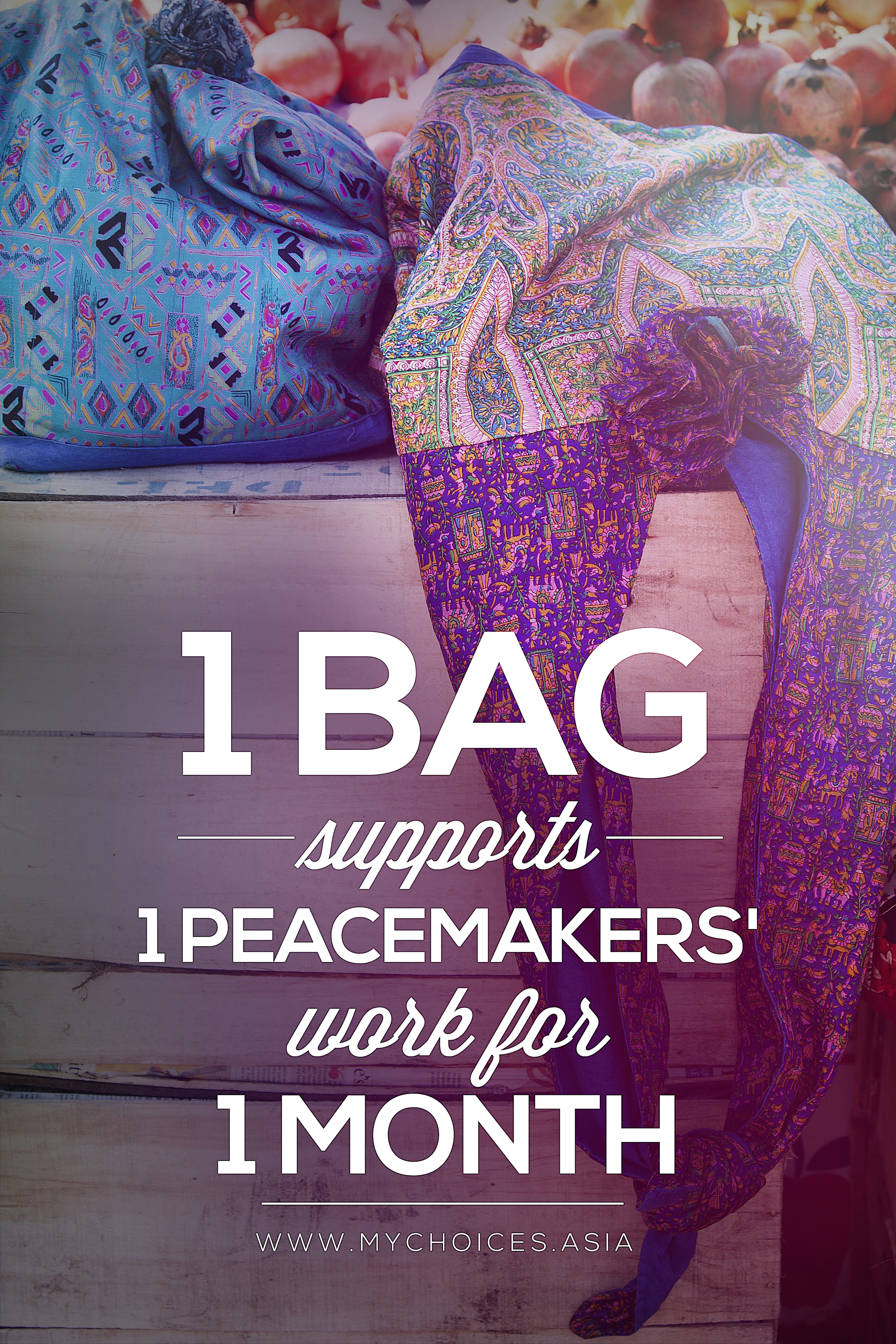 Shop our Large Sling Bag and support the work of our PeaceMakers!