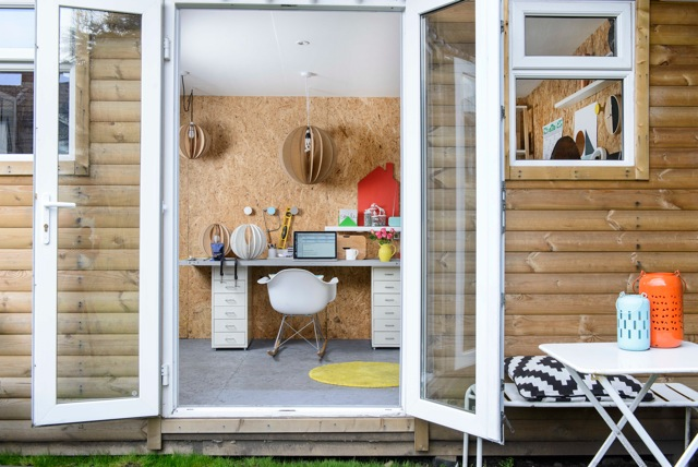 Double doors swing open and let in the fresh air and sunshine.