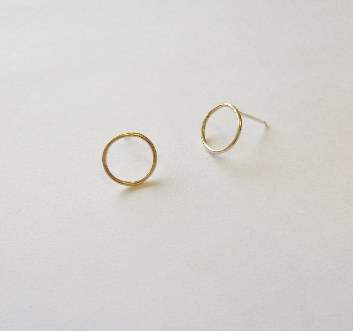 2.Gold Circle Earrings - Hand-formed 24ct Gold plated earrings. Beautifully simple circle earrings. Ideal for the minimalist lover.£25