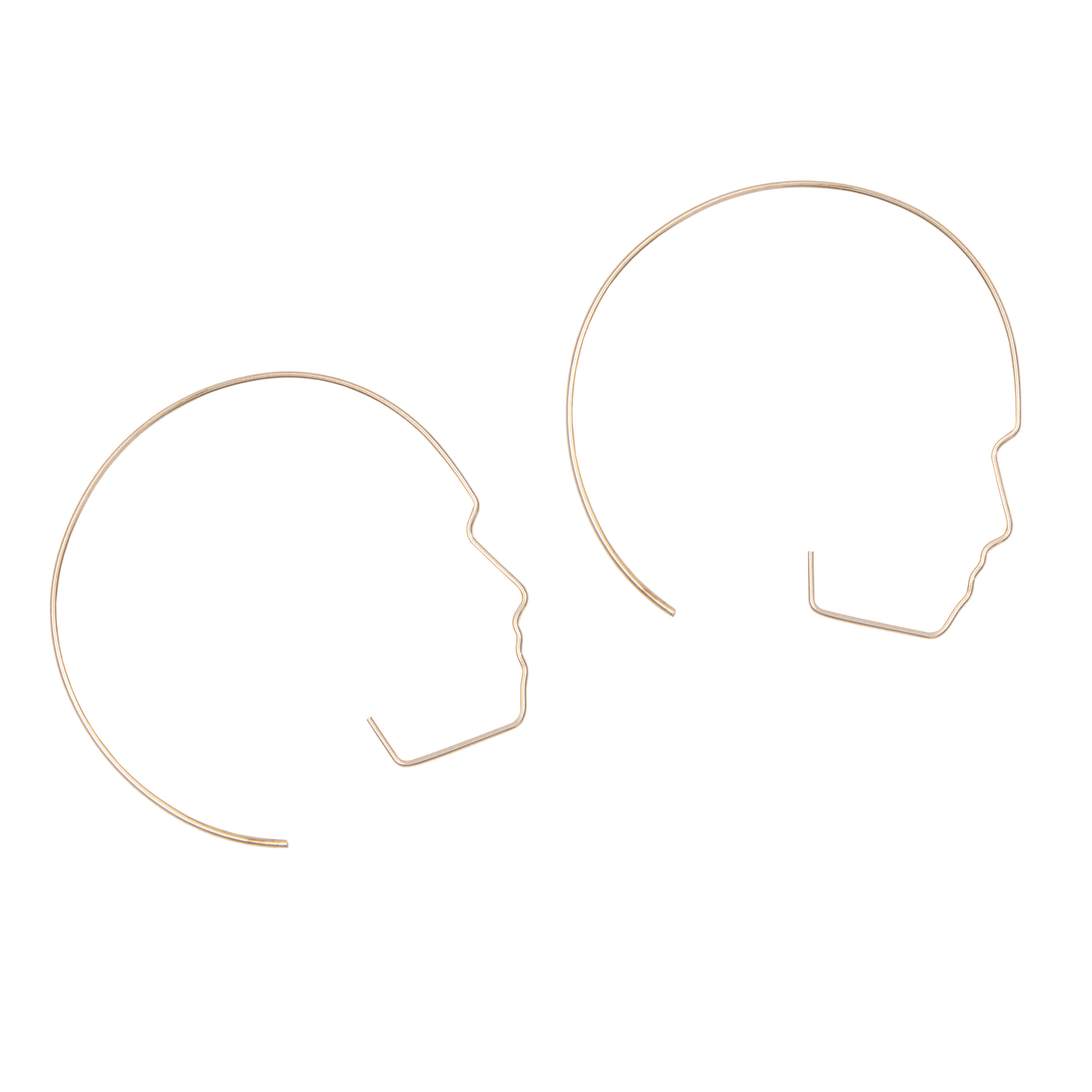 3. Wire Face Earrings - by A Weathered Penny.With influence of love, from line drawings of the face and body from Matisse. The Wire Faces Hoop Earrings are hand moulded in gold + silver plated alloy wire, these fun and unique earrings depict a side profile of a female face.