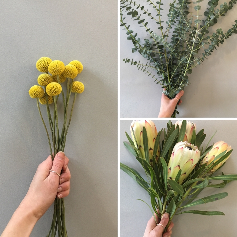1. A lush bouquet - If you've been watching my instagram stories over the past few weeks you'll have seen some of the green and gorgeous flowers, dried grasses and eucalyptus bundles I've had in the shop!This week we've restocked on bundles of eucalyptus as well as some beautiful 'white night' Protea stems and Craspedia.Stock is very limited so be speedy if you want to make your own bouquet!Eucalyptus £9.50 a bundleCraspedia £1.50 a stemProtea £5.50 a stemIn store only! Thurs-Sat 10-6