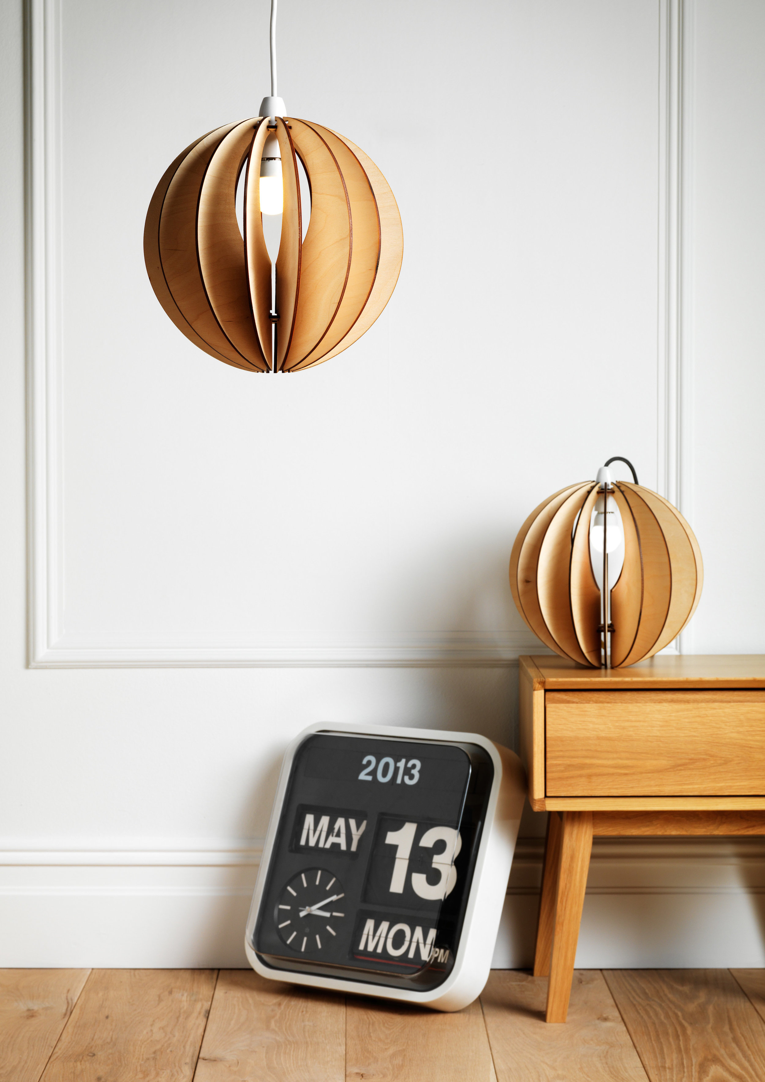 Small Wooden Lightshade- Sphery30 byKirsty