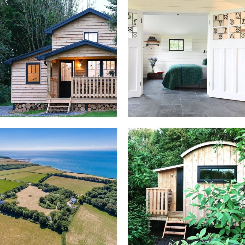 5. Hide - Just a stones throw away from Cardiff is cosy St Donats… + Hide. Sometimes the best things are right under our noses, right? Who doesn't love getting away + without having to drive 6 hours?! Ummm me please!!Hide is totally hidden away with three romantic snug Cabans, a Bugail (Shepherds) Hut and 'Walden' Lodge tucked between trees, gorgeous Welsh countryside + sea views.