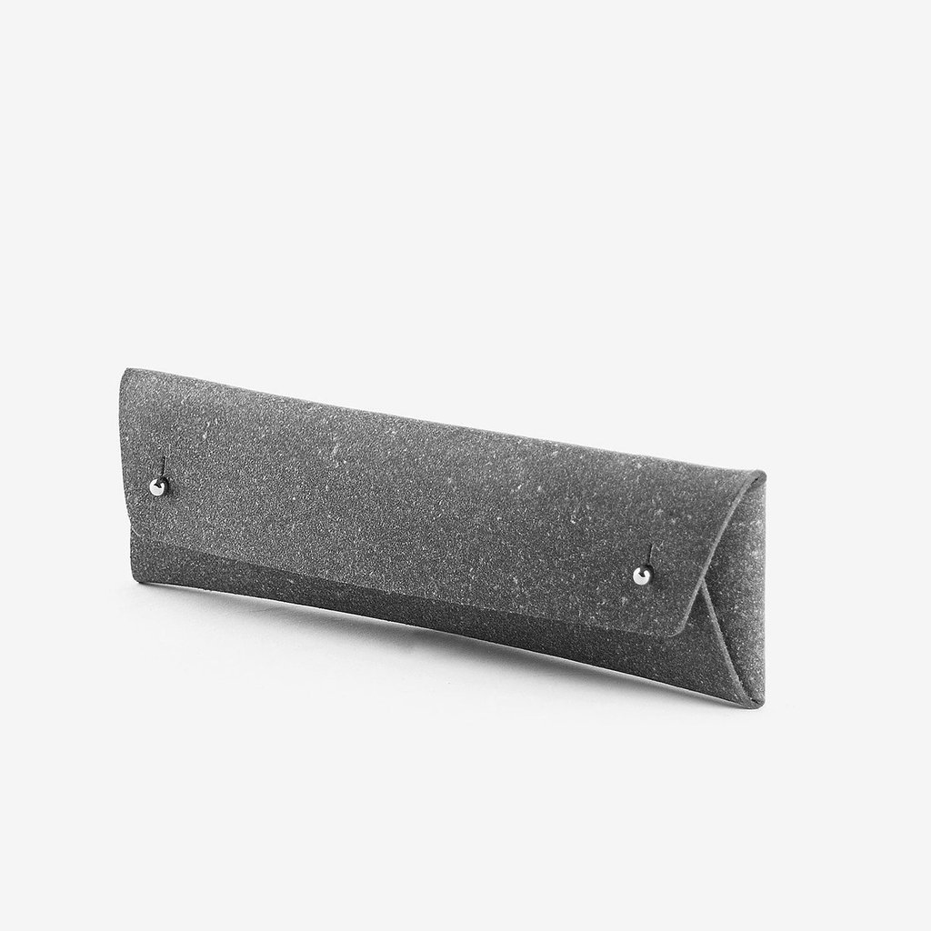 3. Pencil Case Pouch - Stone Grey - He can keep his favourite pens, pencils or glasses safe & stylish in this minimal stone grey pouch.It's ecological, simple and clever design. Made from an innovative eco-friendly material - a mixture of recycled leather and natural latex.£22
