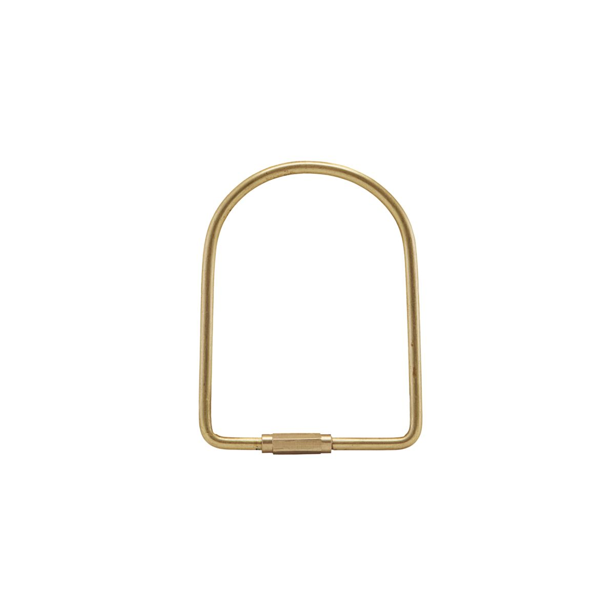 5. Brass D Keyring - Simple and classic. This beautiful keyring made of brass will help him keep hold of his keys (or maybe your spares) at all times.The keyring is easy to open and can be hung on a hook or nail on the wall.£6.50