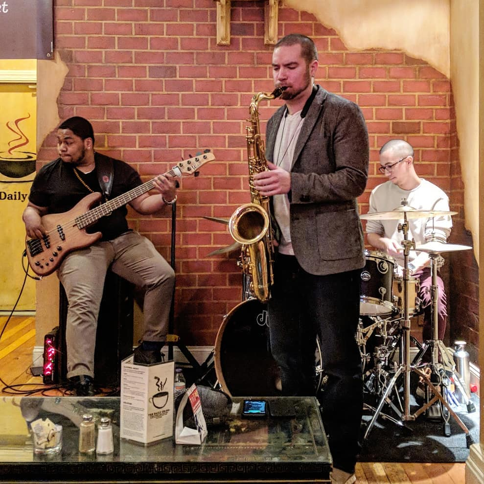 Jeff Nania's Nutrio, with Daniel Lawson on bass and Blair Purdy on drums