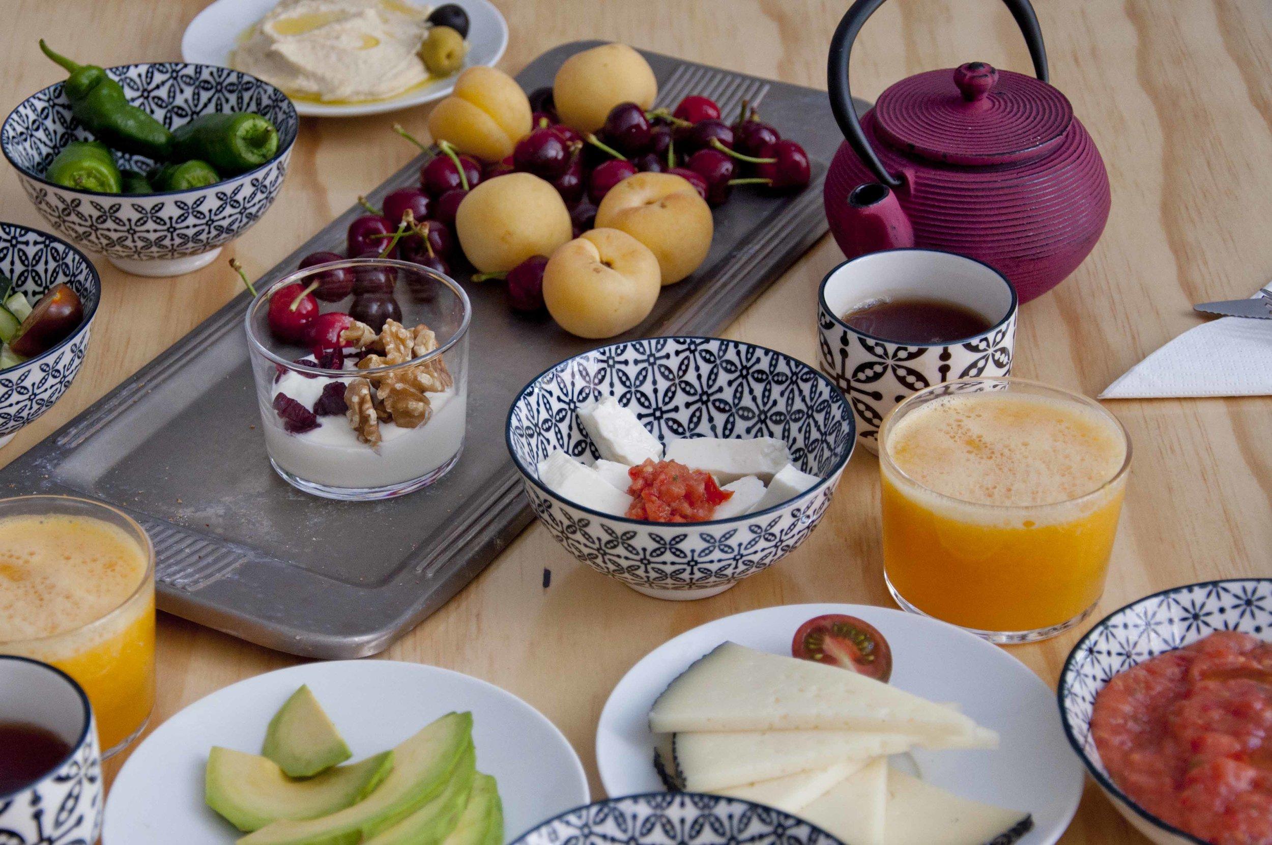 Breakfast at Zalamera B&B in Valencia, Spain 2.jpg