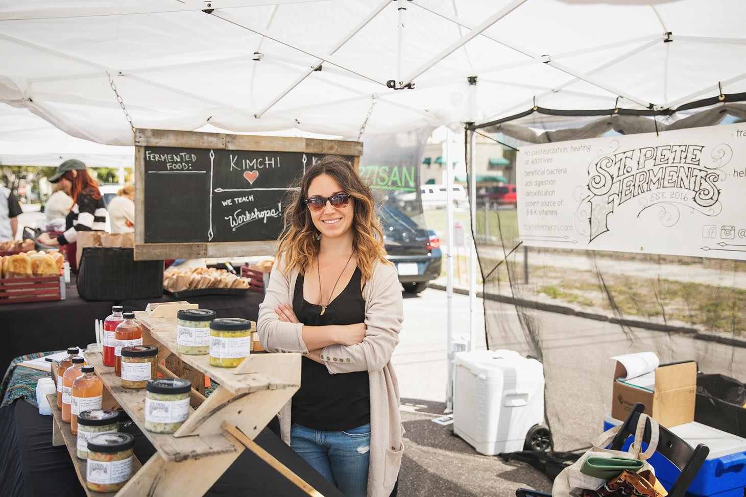 Join us as we welcome Sarah Arrazola with  St. Pete Ferments into our kitchen as a guest speaker!  The month of May is the last main month of our farming season and Sarah will be speaking about turning some of your favorite produce into a probiotic drink! She'll run down the do's and do not's and demonstrate for you how it's done.  In this demonstration we will be featuring produce from The Edible Peace Patch and we'll share with you a little bit more about their amazing non-profit organization!  This demonstration is free with a donation and everyone is welcome!  Urban Canning will provide snacks and beverages!