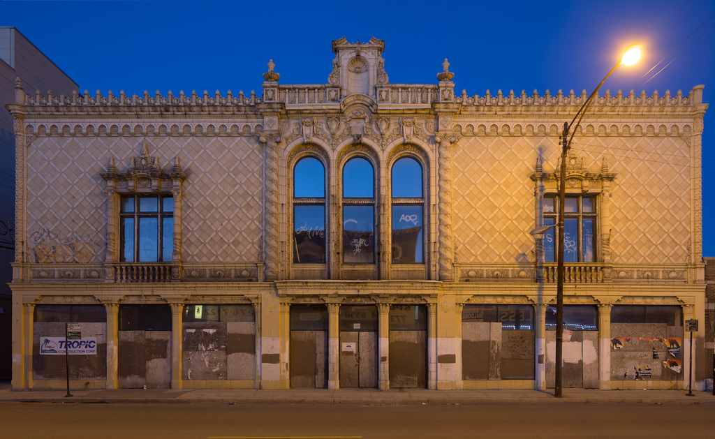On the list: Pioneer Arcade at 1535-1541 N. Pulaski Road, completed in 1925.