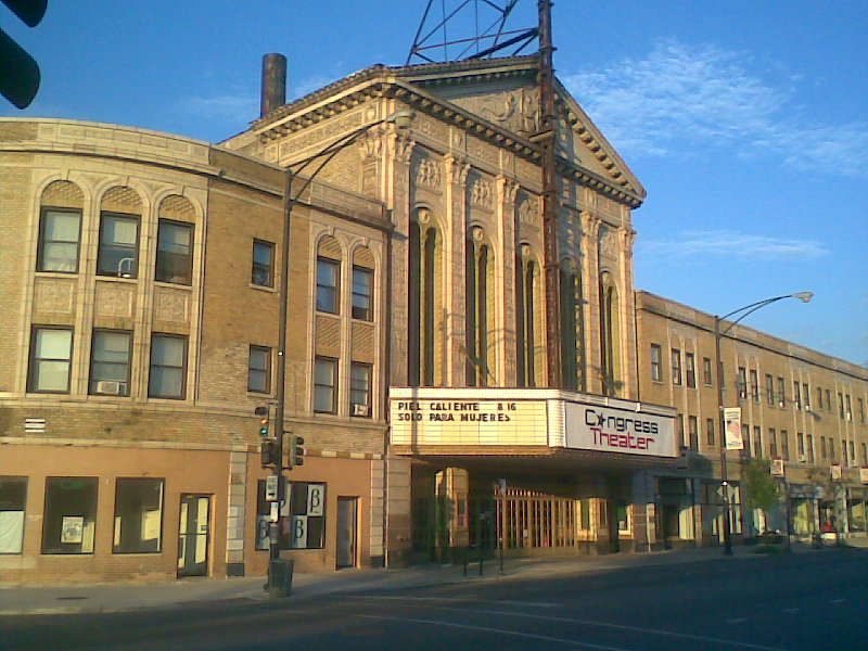 """""""Congress Theater Chicago"""" by Thomas Irvin - Own work. Licensed under CC BY-SA 3.0 via Commons"""