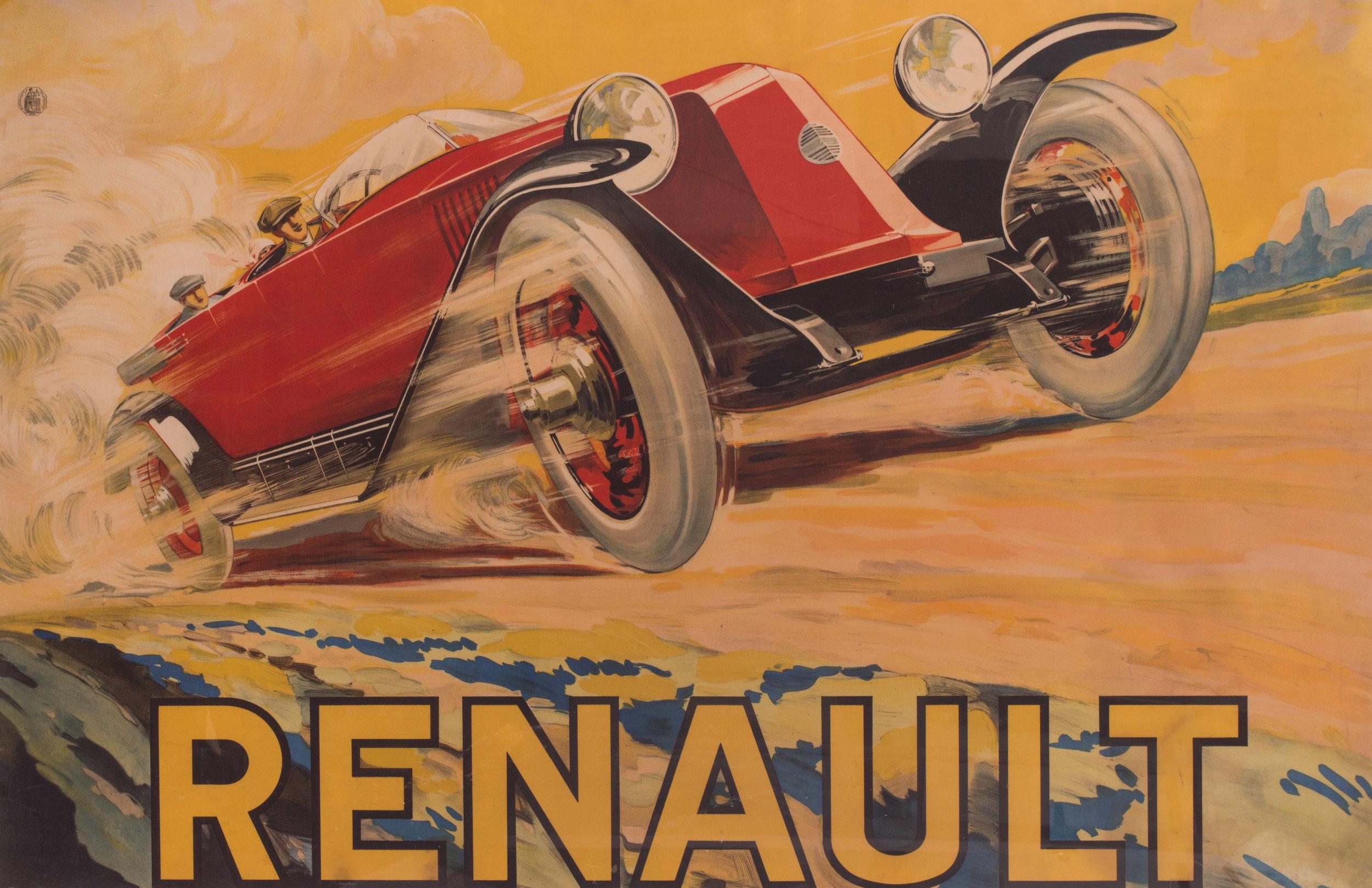 Renault, 1925     Original Renault poster, framed    Price: £1,550
