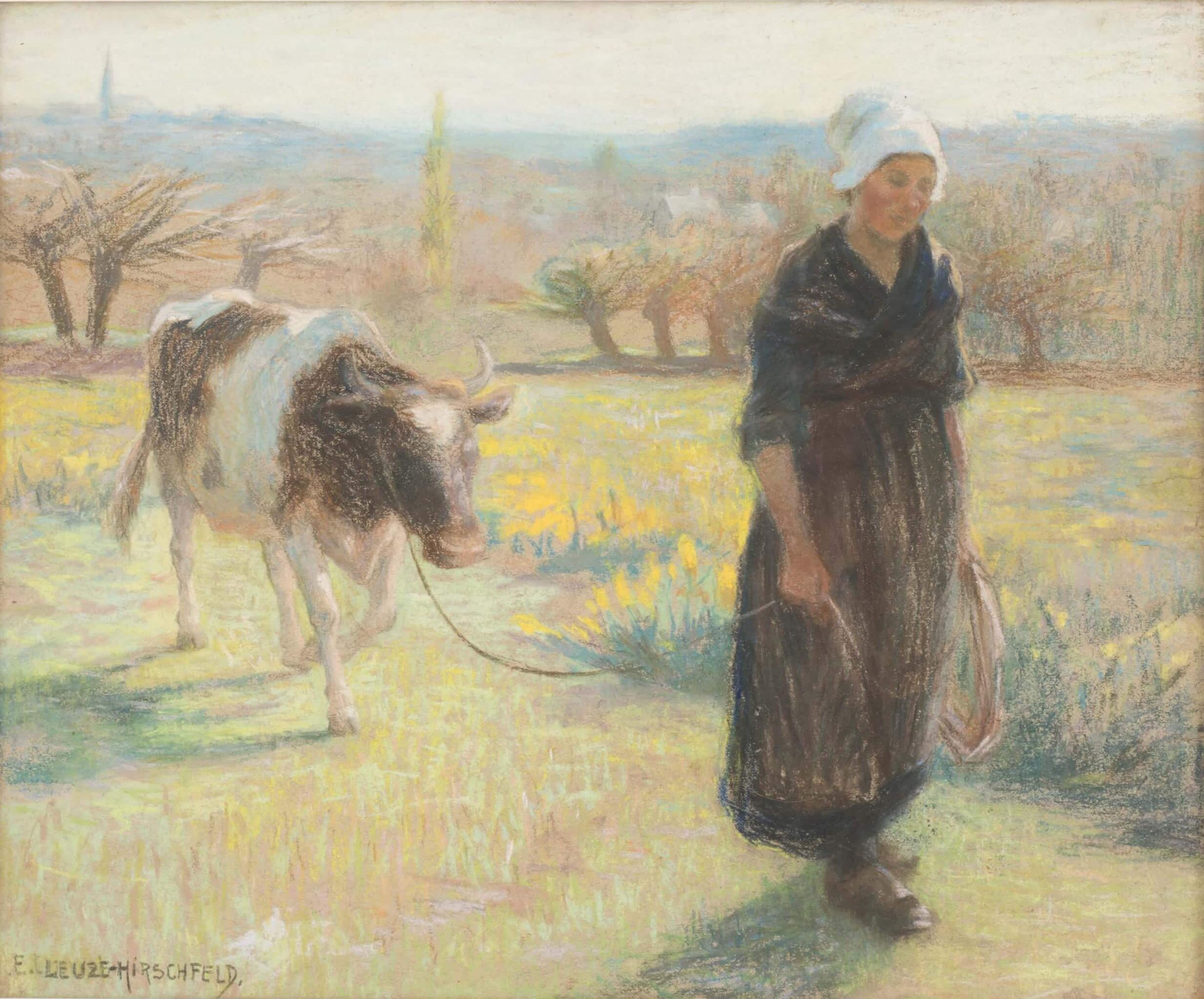 Emmy Leuze-Hirschfeld      The milkmaid     Price: £ 900